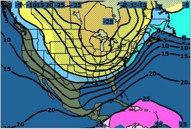 Temperaturas el martes 6 de enero de 2014 a las 7 a.m.