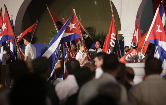 Fotos del acto por el 55 Aniversario de la Revolución cubana