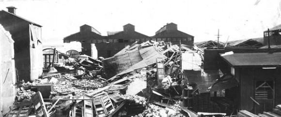 Restos de la Iglesia luego del terremoto de Santiago de Cuba  en 1932