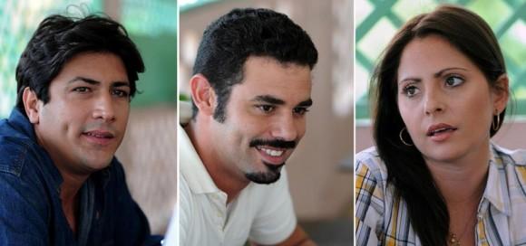 El trío de protagonistas —Kristell Almazán, Carlos Luis González y Laura Moras— hizo su trabajo sin problemas. Foto: Raúl Pupo/ Juventud Rebelde