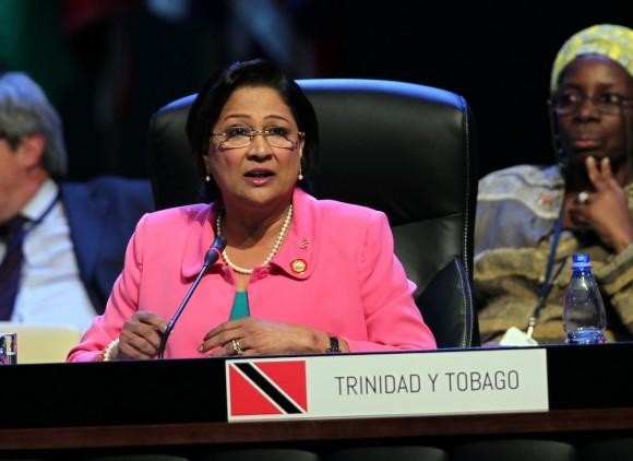 La Primera Ministra de Trinidad y Tobago, Kamla Persad-Bissessar. Foto: Ismael Francisco/ Cubadebate