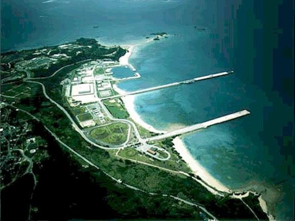 La Base Militar de EEUU de Okinawa.