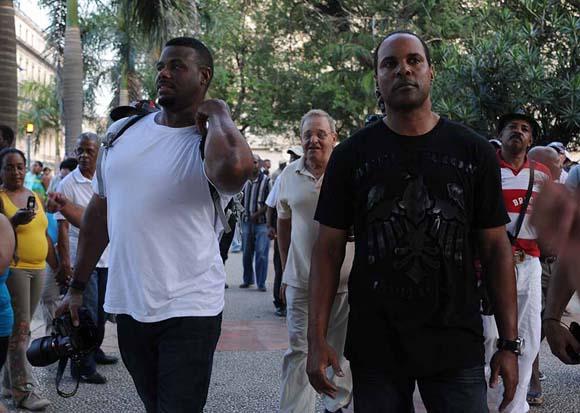 Griffey (izquierda) y Larkin, dos ases de un tiro. Foto: Raúl Pupo.