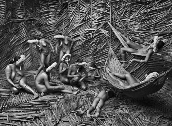 Women of Zo'e tribe, in Amazonas, Brazil