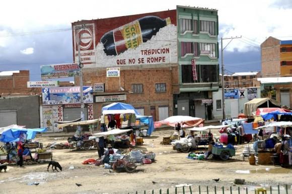Feria boliviana. Foto: Kaloian.