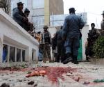 Unos restos de sangre, en el escenario de un atentado suicida. Foto: AFP