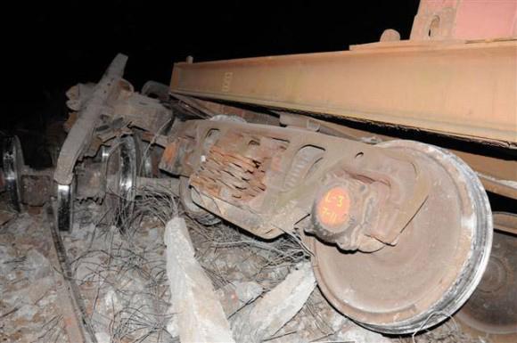 Accidente ferroviario en las cercanías del Zaza del Medio