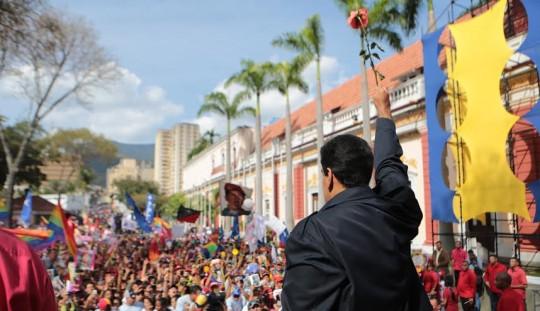Nicolás Maduro resumió la concentración de mujeres por la Paz y la Vida. Foto: Prensa Miraflores