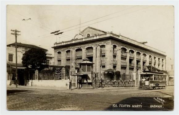 Foto del Teatro Martí en 1930