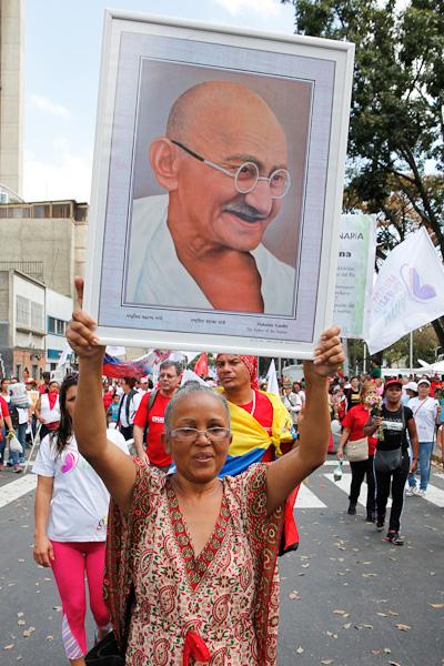 Marcha de mujeres venezolanas por la Paz y la Vida. Foto: Prensa Miraflores