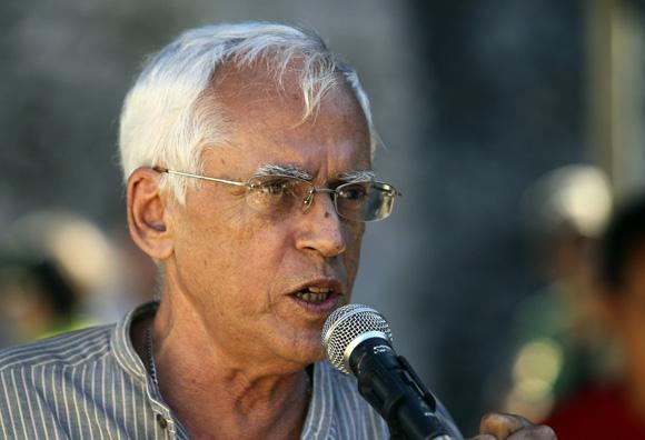 Jorge Oliver, ilustrador de Chamaquili. Foto: Ladyrene Pérez/Cubadebate.