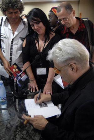 Amaury en la presentación del libro. Foto: Ana Díaz/ Editora Abril