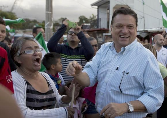 Johnny Araya, durante más de 20 años alcalde de San José. Foto: AP
