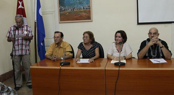 El jurado del Premio Nacional de Periodismo José Marti, y Juan Gualberto Gomez, dio a conocer los galardonados en la UPEC. Foto: Ismael Francisco/Cubadebate.