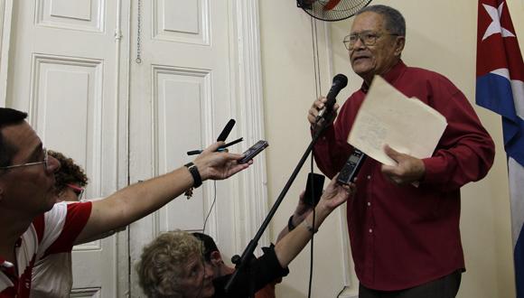 Palabras de Santiago Cardosa Arias, premio Nacional de Periodismo José Marti. Foto: Ismael Francisco/Cubadebate.