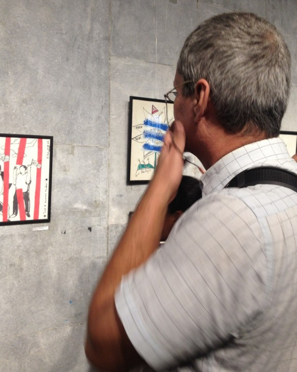 Inauguran exposición dedicada a los Cinco. Foto: Alejandra García/ Cubadebate