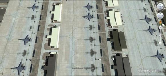 Bombarderos B-1B en la base de Ellsworth.