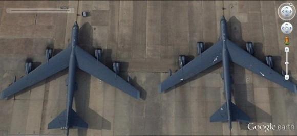 Bombarderos B-52H en la base de Barksdale.