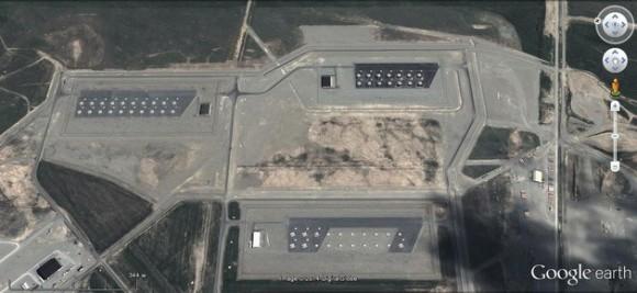 Silos de los misiles antibalísticos en Fort Greely (Alaska).