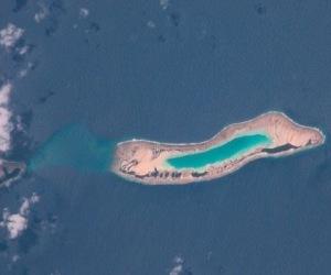 Un nuevo estudio ha demostrado el extraordinario renacimiento de una isla coralina del Pacífico, devastada por un tifón hace más de un siglo. © NASA photo
