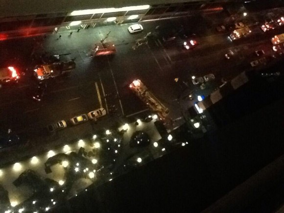 Una imagen de la zona donde tuvo lugar la explosión. Foto: John_Hanlon/ Twitter