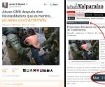 Manipulacion en las Redes Sociales sobre supuesta represión del Gobierno Venezolano ante protestas violentas de la oposición.