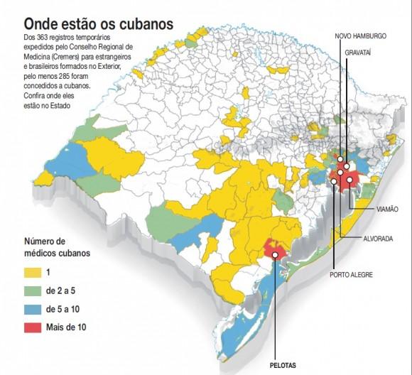 Distribución de médicos cubanos en Brasil