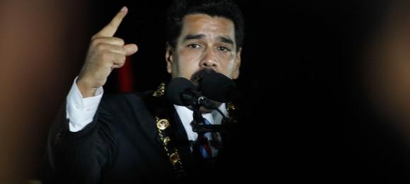 """El presidente de la República, Nicolás Maduro Moros, se refirió la noche de este miércoles a los hechos de violencia que se generaron en el centro de Caracas tras una marcha estudiantil que llegó a la Fiscalía General del República. El jefe de Estado aseguró que en el país se activó """"un golpe similar"""" al del 11 de abril de 2002. Foto:"""