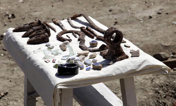 Restos arqueológicos encontrados en el Parque Serafín Sánchez en Sancti Spíritus. Foto: Ismael Francisco/Cubadebate.