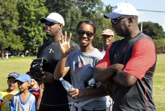 De izquierda a derecha, Griffey Jr., Watley y Logan. Foto: Ladyrene Pérez/Cubadebate.