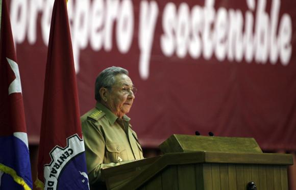 Raúl Castro pronuncia discurso en la clausura del XX Congreso de la CTC, Foto: Ismael Francisco/Cubadebate