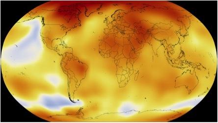 Los colores rojizos de las más altas temperaturas se adueñan poco a poco del Mundo