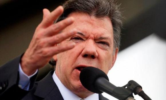 Juan Manuel Santos, presidente de Colombia. Foto: EFE.