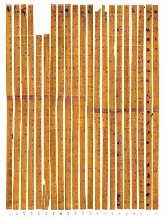 La tabla de multiplicar más antigua, oculta en un rompecabezas de más de 2.300 años. © www.tsinghua.edu.cn