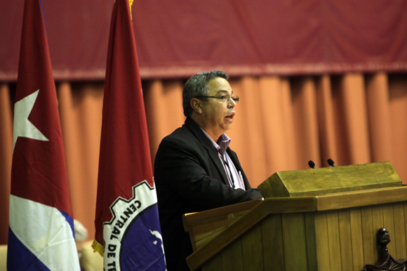 Ulises Guilarte De Nacimiento, presidente del Comité Organizador del congreso de la CTC. Foto: Ismael Francisco / Cubadebate.