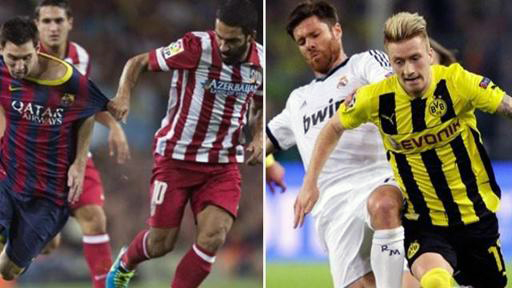 Barça-Atlético y Real Madrid-Dortmund.