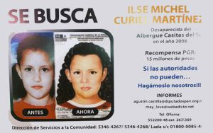 Cartel de búsqueda de la niña Ilse Michel