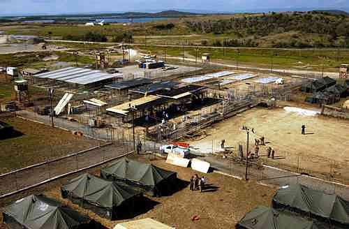 Una imagen del Campo X-Ry de Guantánamo, en el 2002.