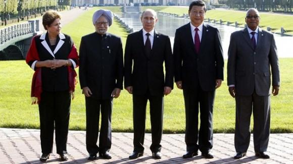 Presidentes de los países integrantes de los BRICS.