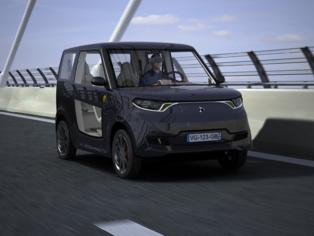 El coche eléctrico diseñado por el consorcio Ecoshell. Fuente: CSIC.