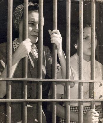 Con Haydeé en la cárcel de mujeres