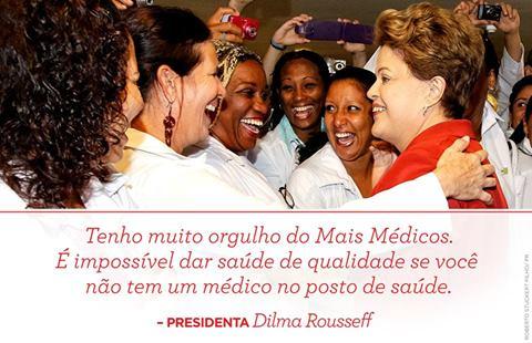 Dilma con los médicos