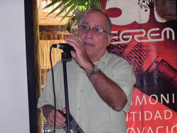 Mario Escalona, Director de la Empresa de Grabaciones y Ediciones Musicales (EGREM) presentó a la prensa la campaña por el Aniversario 50 de esta institución. Foto: Marianela Dufflar