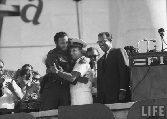 Gagarin en Cuba en abril de 1961