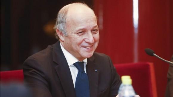 Ministro de Exteriores de Francia, Laurent Fabius.