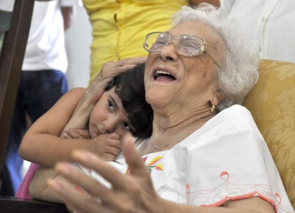 Melba al celebrar sus 90 años de vida. Foto: Kaloian Santos