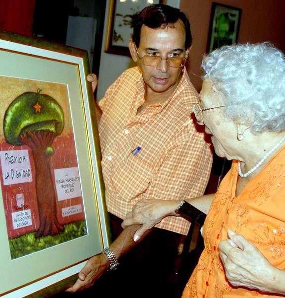 Melba recibió en el 2011 el Premio a la Dignidad de la UPEC