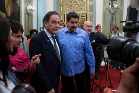 Oliver Stone y Nicolás Maduro