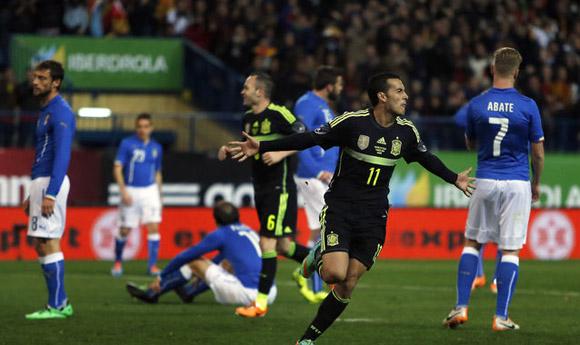 Pedro hizo el único gol. Foto: AP.