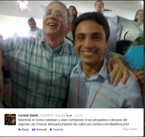 Saleh con Álvaro Uribe